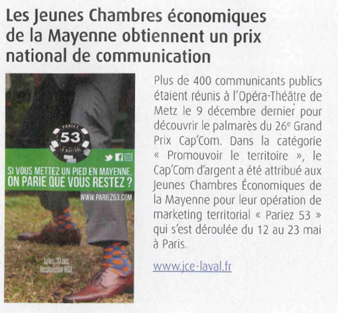 pariez 53 prix national de communication